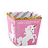 Rainbow Unicorn - Party Mini Favor Boxes - Personalized Magical Unicorn Baby Shower or Birthday Party Treat Candy Boxes - Set of 12