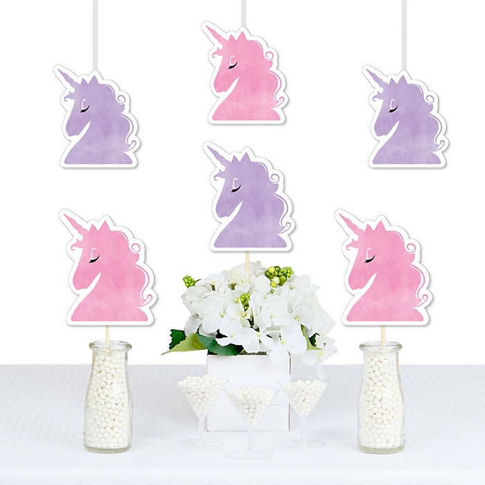 Rainbow Unicorn - Decorations DIY Magical Unicorn Baby Shower or Birthday Party Essentials - Set of 20