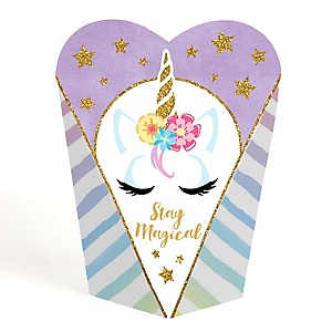 Rainbow Unicorn - Magical Unicorn Baby Shower or Birthday Party Favors - Gift Favor Boxes for Women - Set of 12