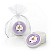 Rainbow Unicorn - Personalized Magical Unicorn Baby Shower or Birthday Party Lip Balm Favors - Set of 12