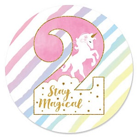 2nd Birthday - Rainbow Unicorn - Magical Unicorn Second Birthday Party Theme