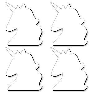Unicorn Foam Board - Shaped DIY Craft Supplies for Resin and Painting - Blank Foam Board - 4 Piece