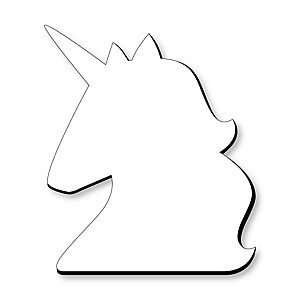 Unicorn Foam Board - Shaped DIY Craft Supplies for Resin and Painting - Blank Foam Board - 1 Piece