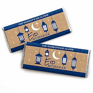 Ramadan - Personalized Candy Bar Wrapper Eid Mubarak Party Favors - Set of 24