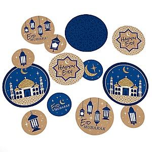 Ramadan - Eid Mubarak Giant Circle Confetti - Party Decorations - Large Confetti 27 Count