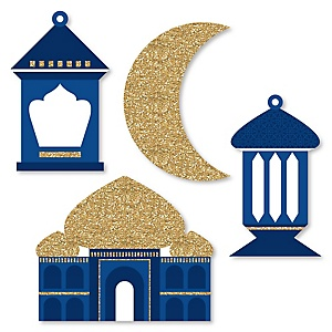 Ramadan - DIY Shaped Eid Mubarak Cut-Outs - 24 ct