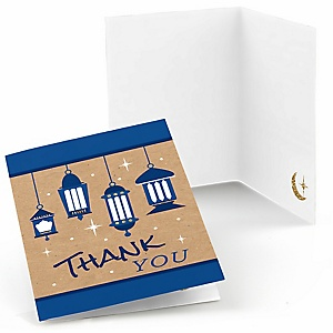 Ramadan - Eid Mubarak Party Thank You Cards - 8 ct