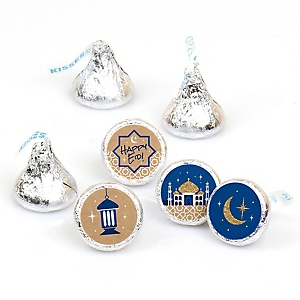 Ramadan - Round Candy Labels Eid Mubarak Favors - Fits Hershey Kisses - 108 ct