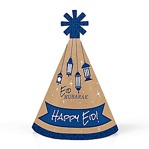 Ramadan - Personalized Mini Cone Eid Mubarak Eid Mubarak Hats - Small Little Party Hats - Set of 10