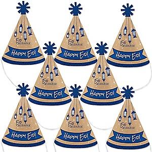 Ramadan - Mini Cone Eid Mubarak Eid Mubarak Hats - Small Little Party Hats - Set of 8