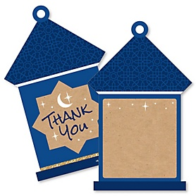 Ramadan - Shaped Thank You Cards - Eid Mubarak Thank You Note Cards with Envelopes - Set of 12