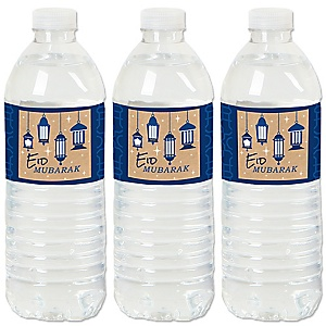 Ramadan - Eid Mubarak Water Bottle Sticker Labels - Set of 20