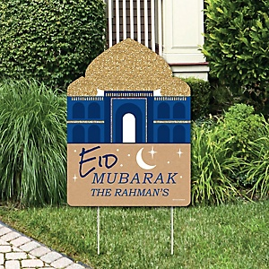 Ramadan - Party Decorations - Eid Mubarak Personalized Welcome Yard Sign