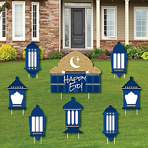 Ramadan - Yard Sign & Outdoor Lawn Decorations - Eid Mubarak Yard Signs - Set of 8