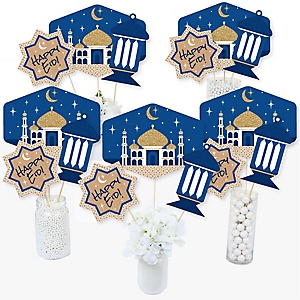 Ramadan - Eid Mubarak Party Centerpiece Sticks - Table Toppers - Set of 15