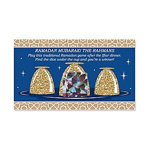 Ramadan - Personalized Eid Mubarak Al Siniya Game Scratch Off Cards - 22 Count