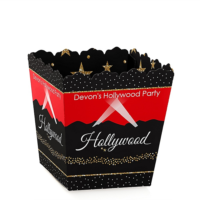 Red Carpet Hollywood - Party Mini Favor Boxes - Personalized Movie Night Party Treat Candy Boxes - Set of 12