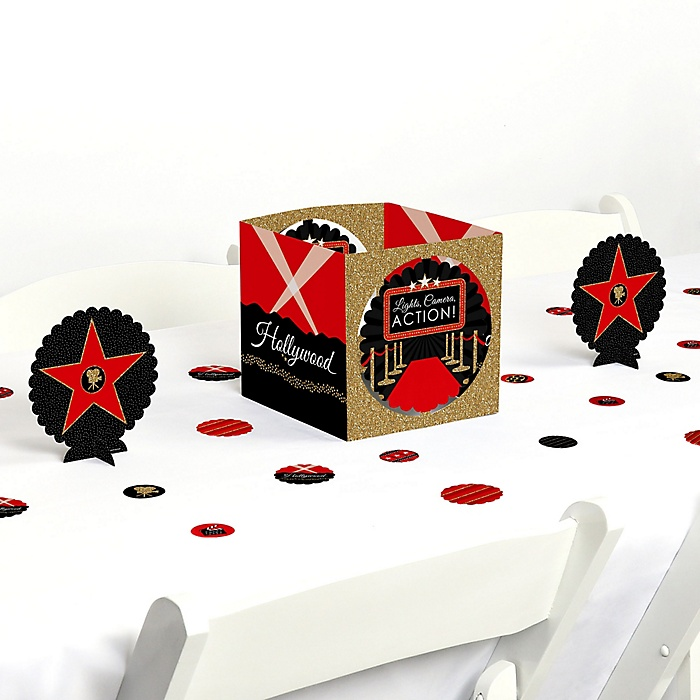 Red Carpet Hollywood - Movie Night Party Centerpiece and Table Decoration Kit