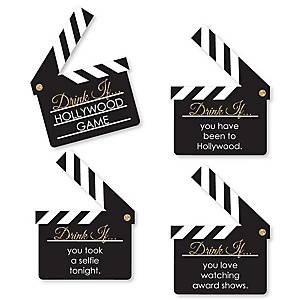 Red Carpet Hollywood - Drink If Movie Night Party Game - Set of 24