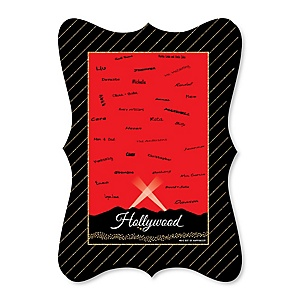 Red Carpet Hollywood - Unique Alternative Guest Book - Movie Night Party Signature Mat
