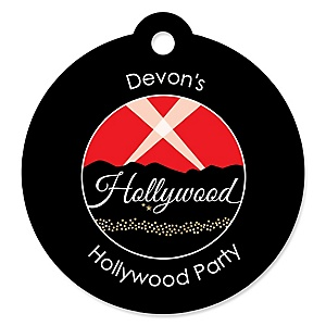 Red Carpet Hollywood - Personalized Movie Night Party Gift Tags - 20 ct