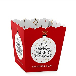 Red and Gold Friendsmas - Friends Christmas Treat Candy Boxes - Set of 12
