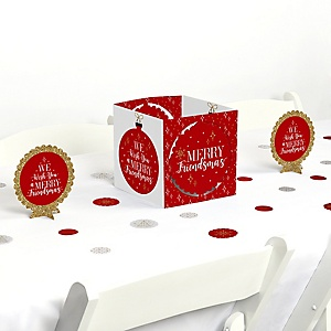 Red and Gold Friendsmas - Friends Christmas Party Centerpiece & Table Decoration Kit