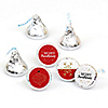 Red and Gold Friendsmas - Friends Christmas Party Round Candy Sticker Favors - Labels Fit Hershey's Kisses (1 sheet of 108)