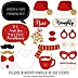 Red and Gold Friendsmas - 20 Piece Friends Christmas Party Photo Booth Props Kit