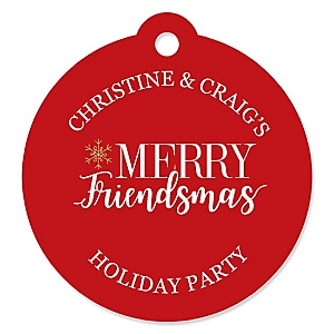 Red and Gold Friendsmas - Friends Christmas Tags - 20 ct