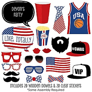 Red Party Cup - 20 Piece Photo Booth Props Kit