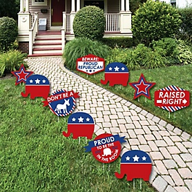Republican Election - Elephant Lawn Decorations - Outdoor Political 2020 Election Party Yard Decorations - 10 Piece