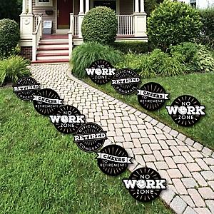 Happy Retirement - Lawn Decorations - Outdoor Retirement Party Yard Decorations - 10 Piece