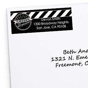 Happy Retirement - Personalized Retirement Party Return Address Labels - 30 ct