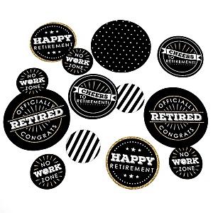 Happy Retirement - Retirement Party Giant Circle Confetti - Golf Party Decorations - Large Confetti 27 Count