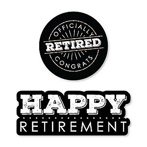 Happy Retirement - DIY Shaped Retirement Party Cut-Outs