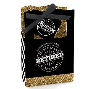 Happy Retirement - Personalized Retirement Party Favor Boxes - Set of 12