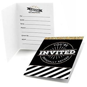 Happy Retirement - Fill In Retirement Party Invitations  - 8 ct