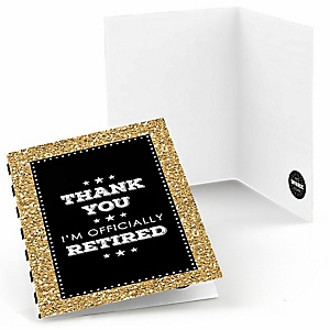 Happy Retirement - Retirement Party Thank You Cards - 8 ct