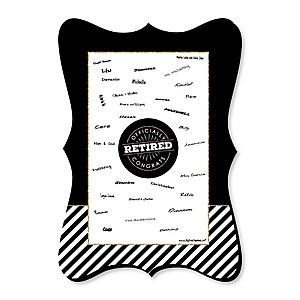 Happy Retirement - Unique Alternative Guest Book - Retirement Party Signature Mat