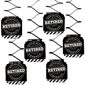 Happy Retirement - Retirement Party Hanging Decorations