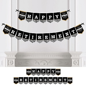 Happy Retirement - Personalized Retirement Party Bunting Banner & Decorations