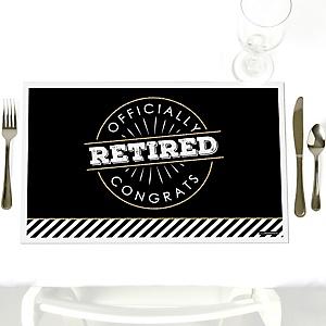 Happy Retirement - Party Table Decorations - Retirement Party Placemats - Set of 12