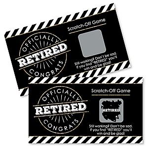 Happy Retirement - Retirement Party Scratch Off Cards