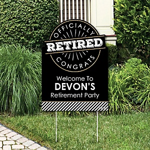 Happy Retirement - Retirement Party Decorations - Retirement Party Personalized Welcome Yard Sign