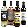 Retirement Party - Wine Bottle Label Stickers - Set of 4