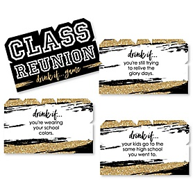 Drink If Game - Reunited - School Class Reunion Party Game - 24 Count