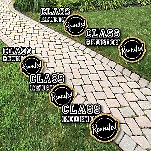 Reunited - Crown Lawn Decorations - Outdoor School Class Reunion Party Yard Decorations - 10 Piece