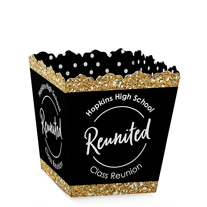 Reunited - Party Mini Favor Boxes - Personalized School Class Reunion Party Treat Candy Boxes - Set of 12