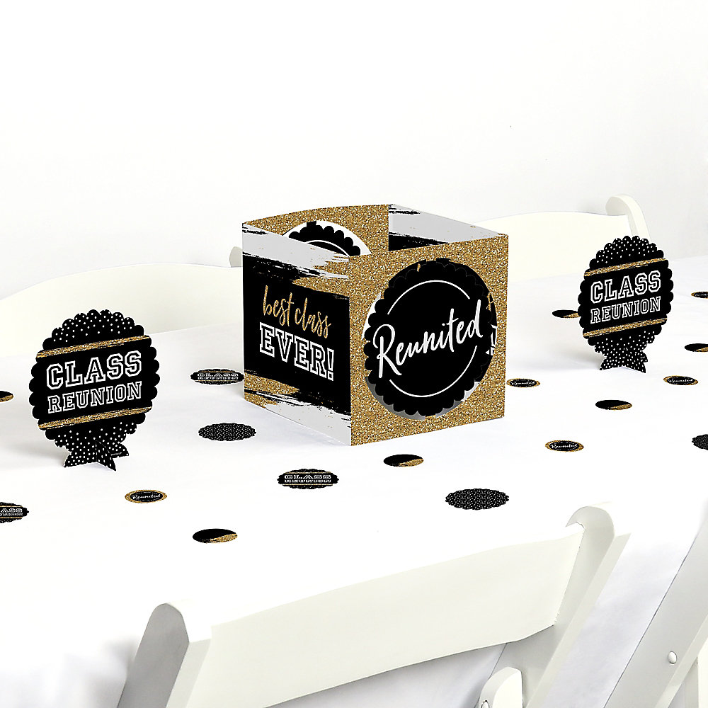 Reunited School Class Reunion Party Centerpiece And Table Decoration Kit